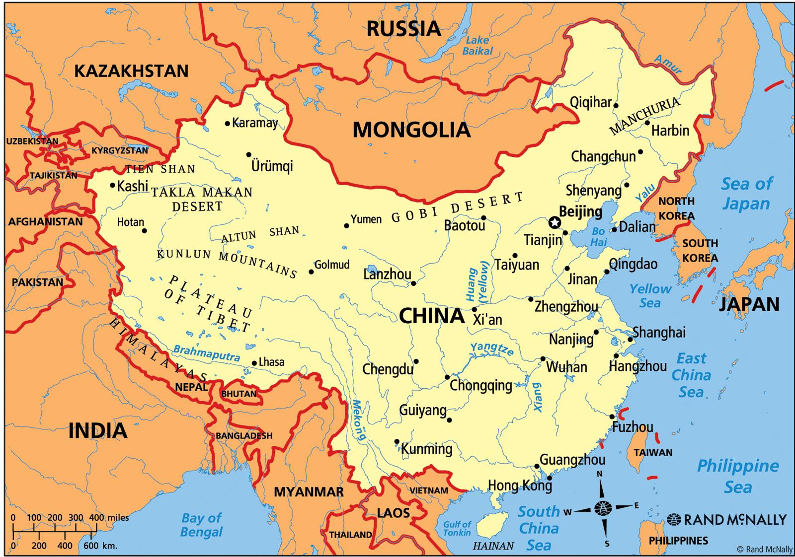 China political map - China map political (Eastern Asia - Asia)