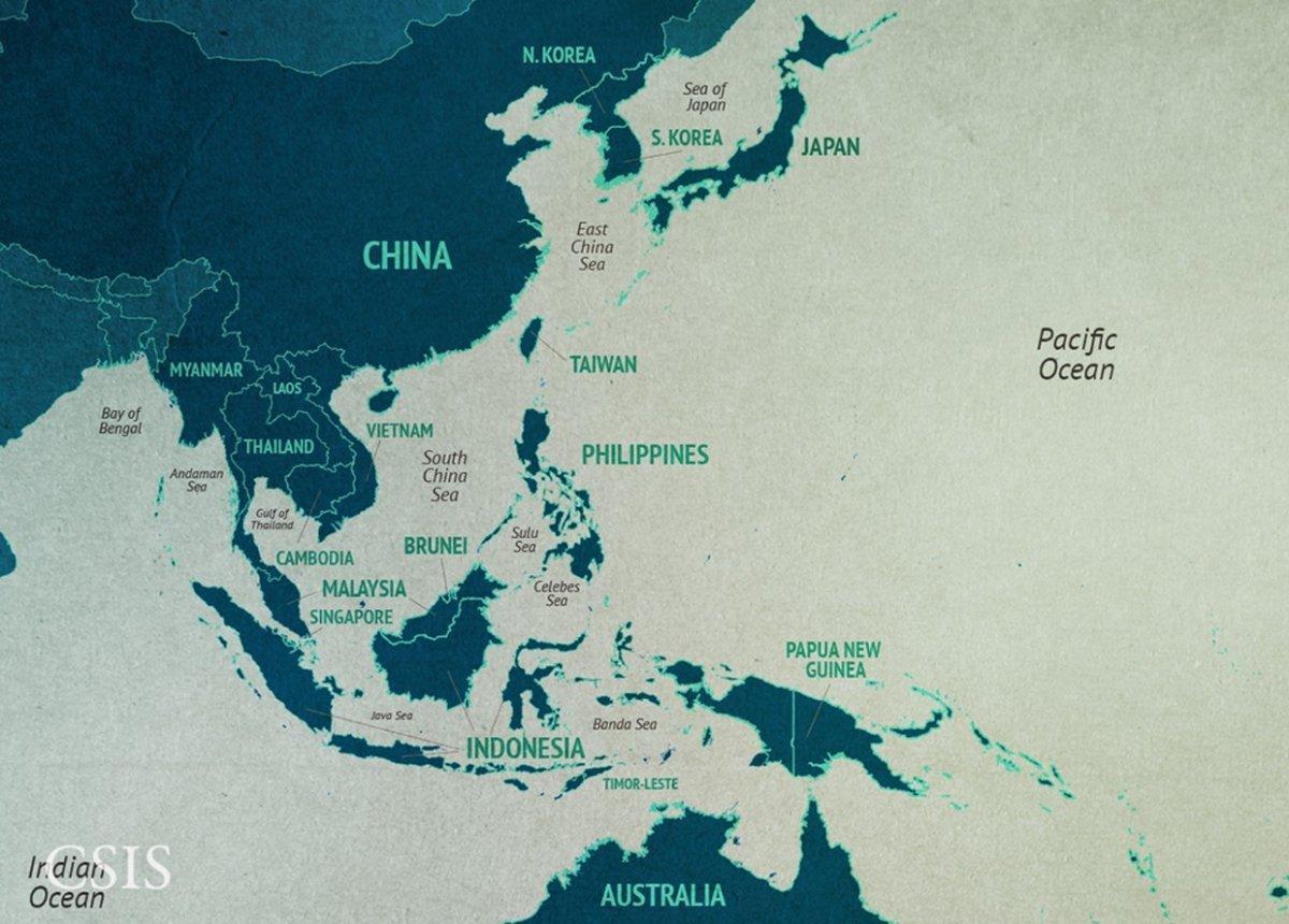 South China sea map - China south China sea map (Eastern Asia - Asia)