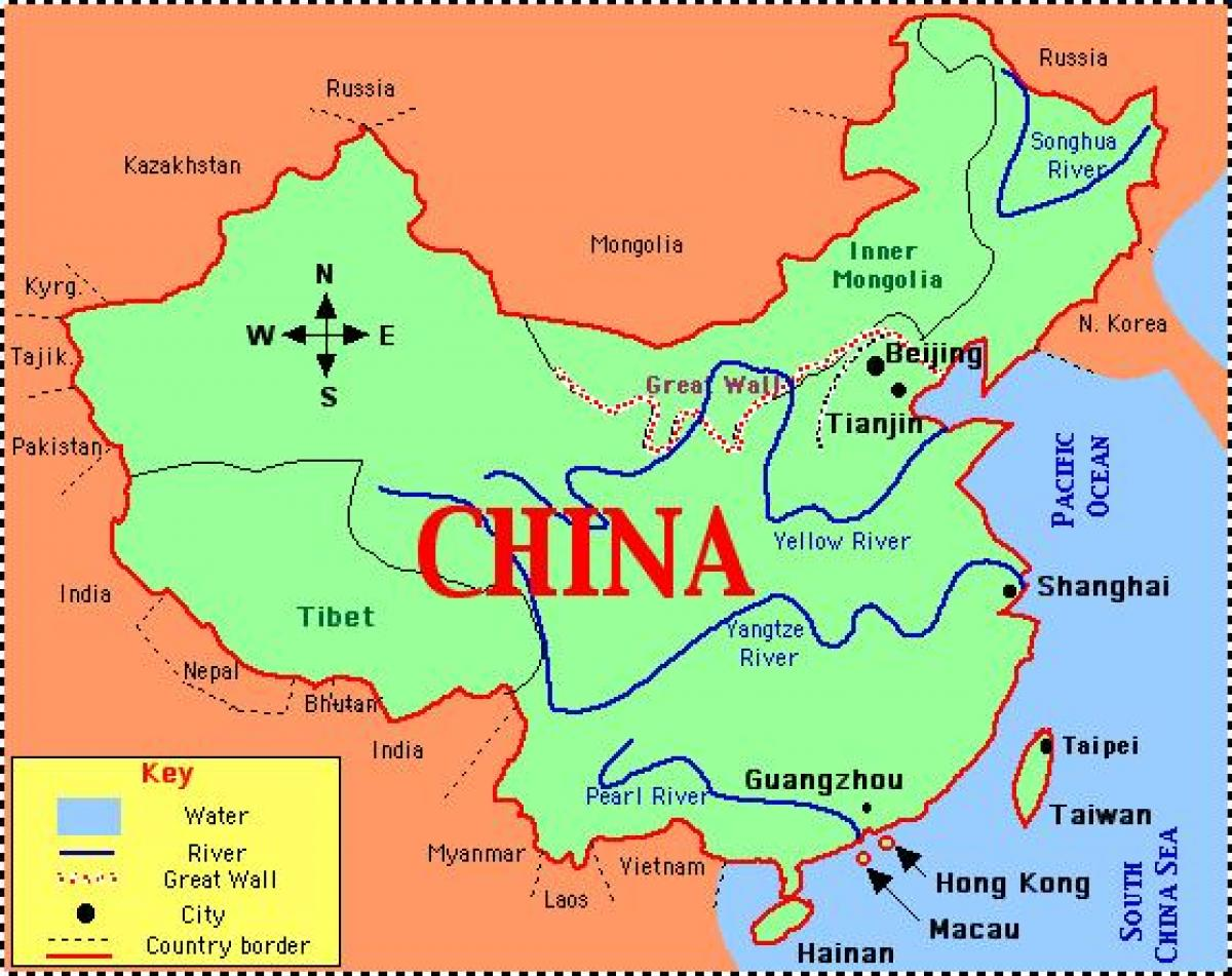 Image of: China Map With Rivers China Map With Rivers And Mountains Eastern Asia Asia