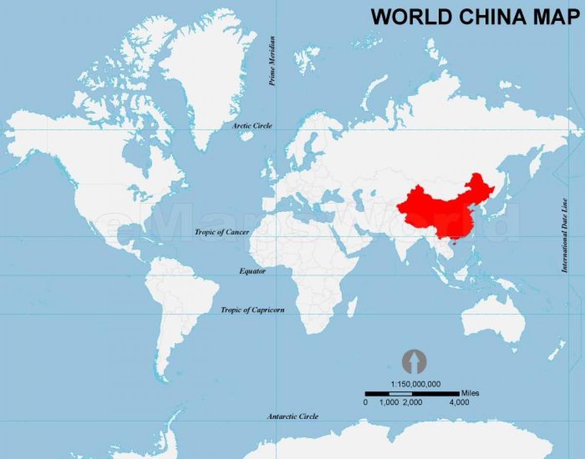 China on map of world china on the world map eastern asia asia china on the world map gumiabroncs Image collections