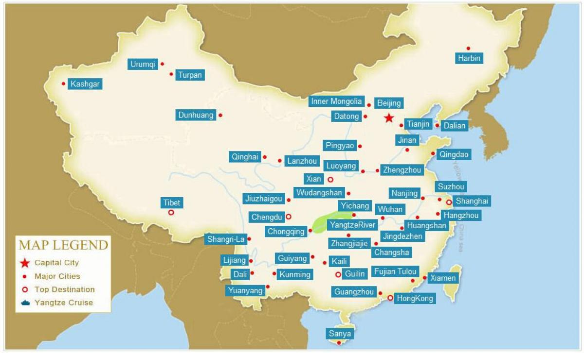 Map Of China With Cities China Map With Cities Eastern Asia Asia - Jingdezhen map