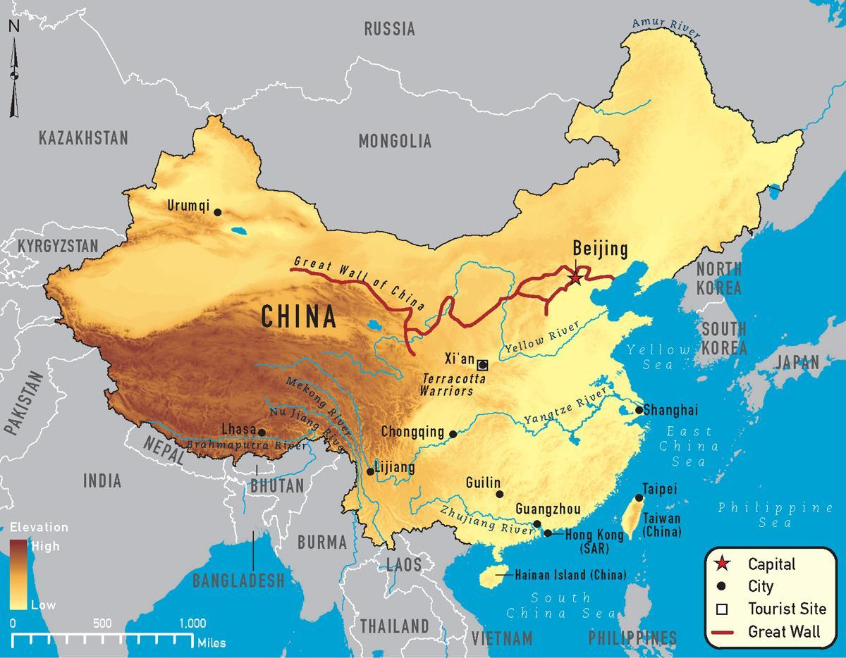 China map - Maps China (Eastern Asia - Asia)