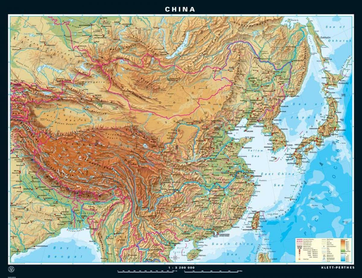 Physiographic map of China - Physiographic map China (Eastern Asia ...