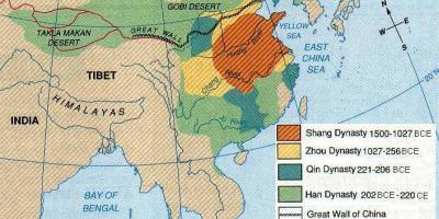 Ancient China geography map
