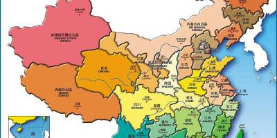 Map China provinces