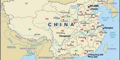 China Province Map Provinces Of China Map Eastern Asia Asia