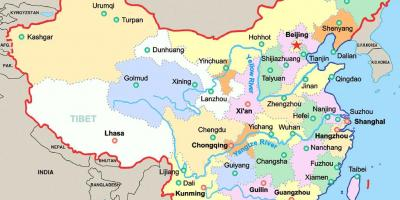 Map Of China With Cities China Map With Cities Eastern Asia Asia